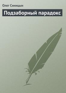 Обложка книги  - Подзаборный парадокс