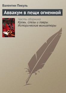 Обложка книги  - Аввакум в пещи огненной