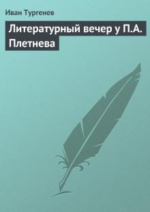 Обложка книги  - Литературный вечер у П.А. Плетнева