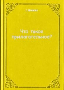 Обложка книги  - Что такое прилагательное?