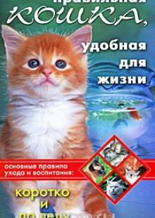 Обложка книги  - Правильная кошка, удобная для жизни. Основные правила ухода и воспитания. Коротко и по делу