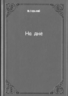 Обложка книги  - На дне