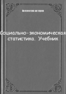 Обложка книги  - Социально-экономическая статистика. Учебник