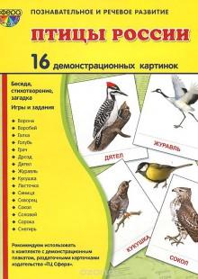 Обложка книги  - Птицы России.Демонстрационные картинки