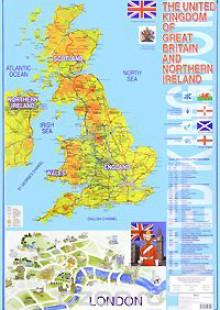 Обложка книги  - The United Kingdom of Great Britain and Northern Ireland. Карта