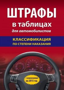 Обложка книги  - Штрафы в таблицах для автомобилистов с изменениями на 2015 год. Классификация по степени наказания
