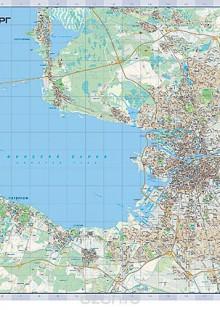 Обложка книги  - Санкт-Петербург. Настенная карта