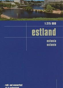 Обложка книги  - Estland. Карта