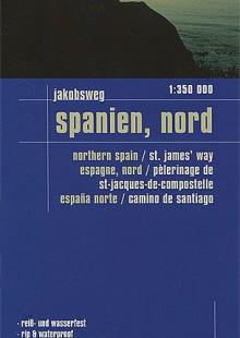 Обложка книги  - Spanien, Nord. Карта