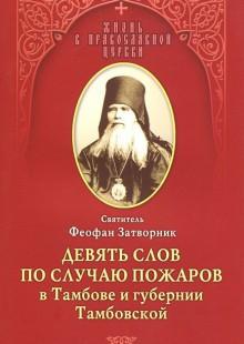 Обложка книги  - Девять слов по случаю пожаров в Тамбове и губернии Тамбовской