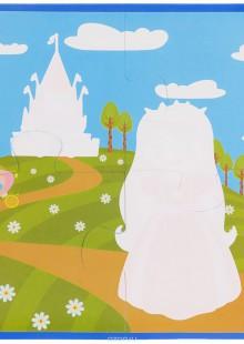 Обложка книги  - Принцесса. Водораскраски-пазлы
