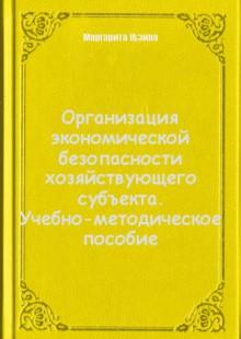 Обложка книги  - Организация экономической безопасности хозяйствующего субъекта. Учебно-методическое пособие